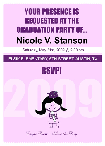 Preschool Graduation Invitations Templates
