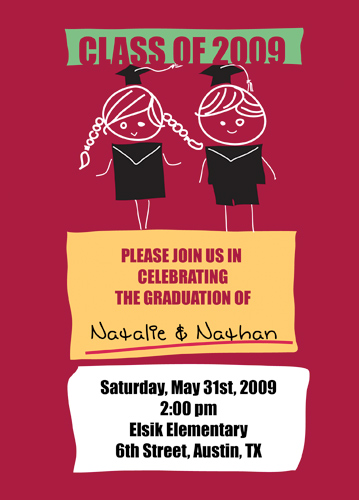 Graduation Invitations Instructions