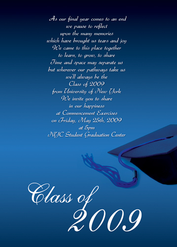 Online Graduation Invitations Templates