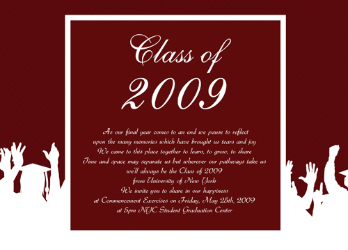 Graduation blank invitation for Senior announcement templates free