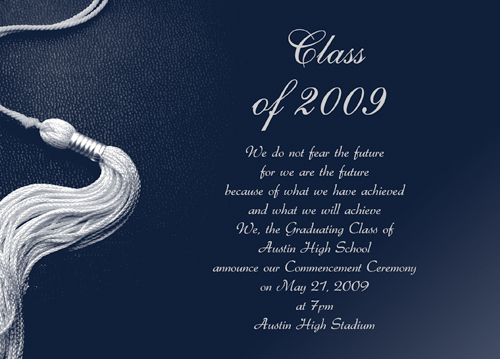 Graduation Announcement Greeting Card