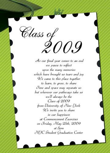 Graduation Announcements College Protocol