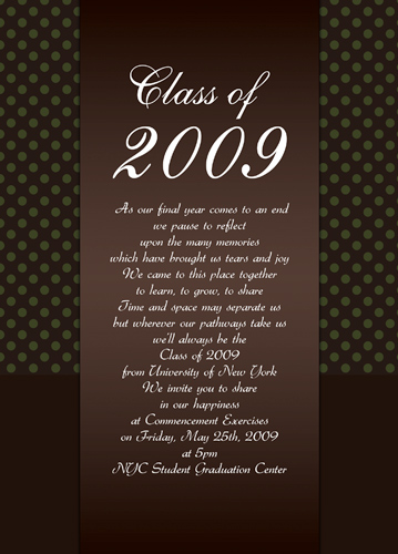 High School Graduation Announcements Text