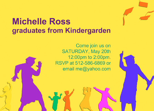 Kindergarten Graduation Invitations Templates
