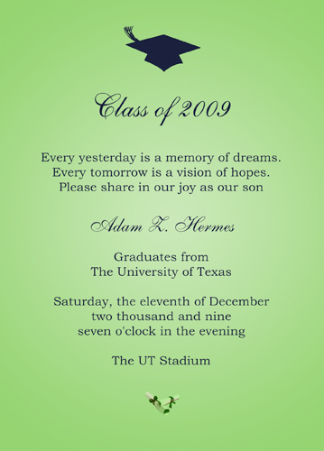 Graduation Announcements College Etiquette