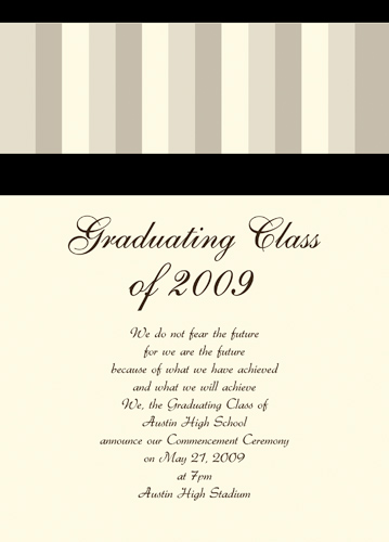 Junior High School Graduation Announcements