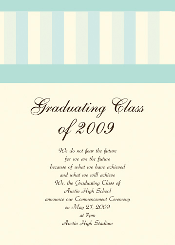 Graduation Announcement Etiquette Tissue
