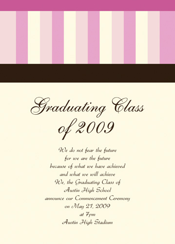 High School Graduation Announcement Verses