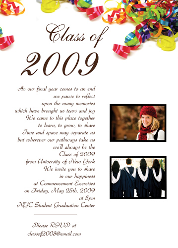 High School Graduation Announcement Printing