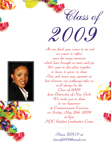 College Graduation Announcement Wording Example