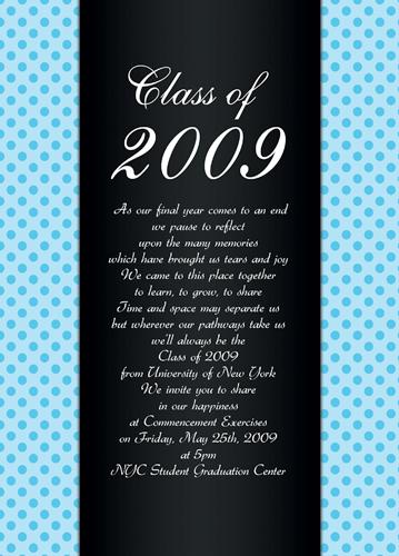 Graduation Commencement Invitations