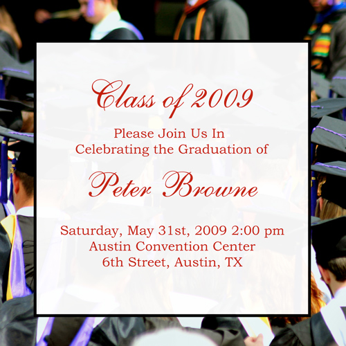 Examples Of Graduation Invitations