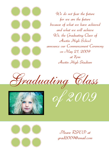 Graduation Invitations With Photograph