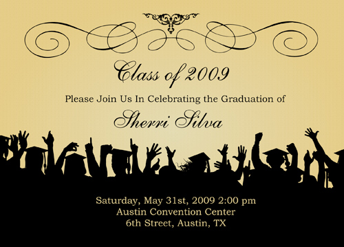 Graduation Invitation Example