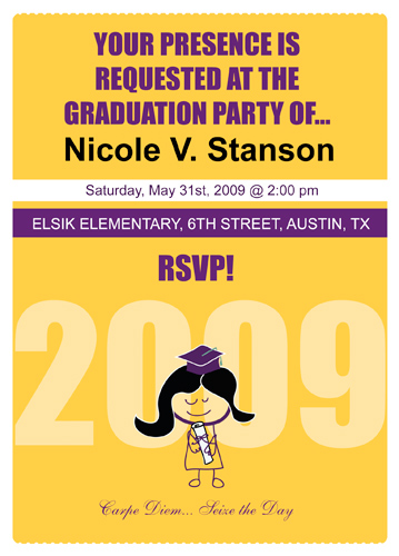 Graduation Invitations With A Picture