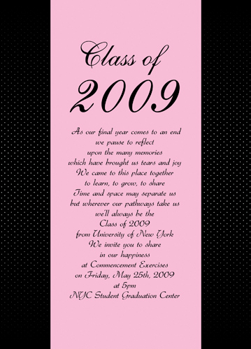 University Graduation Announcement Example