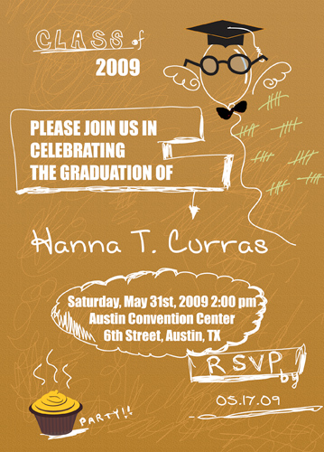 Graduation announcement outline graduation invitations masters stopboris Choice Image