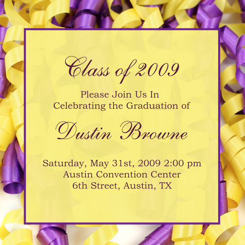Invitations For College Graduation