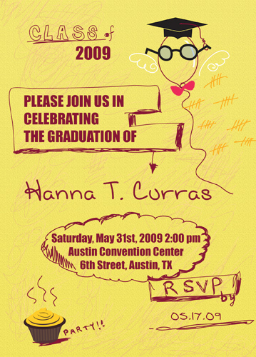 Graduation Invitation Announcement Wording