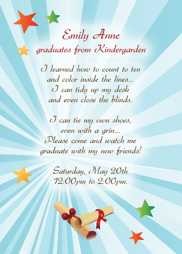 Graduation Invitation Sample