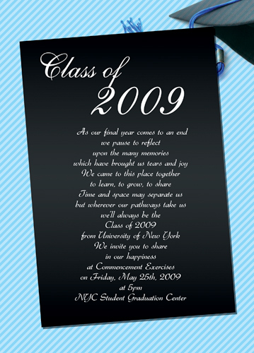 Graduation Design For Invitations