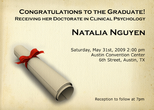 Graduation Announcement Ecard
