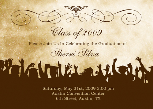 Graduation Invitations No Gifts