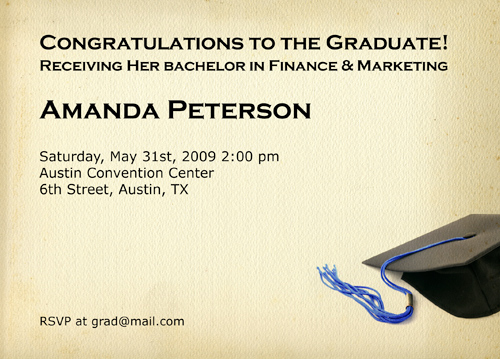 Graduation Invite Wording Ideas