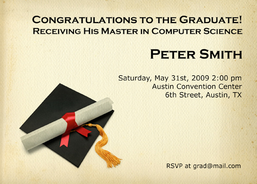 Graduation Invitations To Print Out