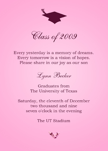 College Graduation Announcements Sayings
