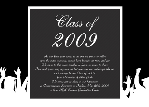 Homemade Graduation Announcements
