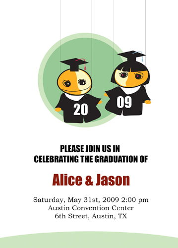 Black Graduation Announcements