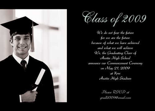 Graduation Announcement College Text