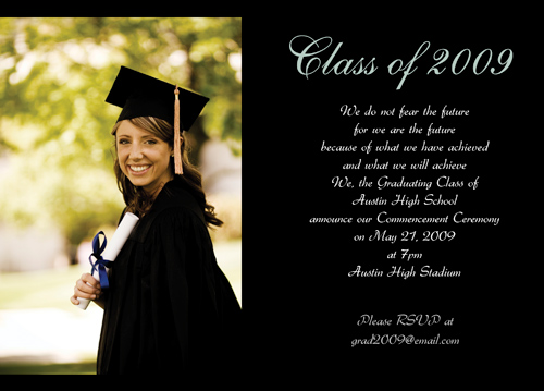 Example Graduation Invitations