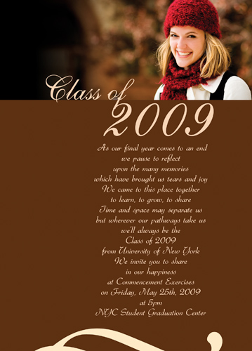 College Graduation Announcement Invitations