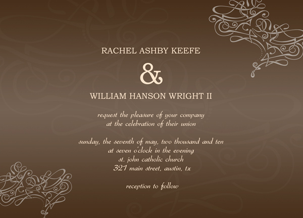 Sample Wedding Invitation Cards In case you not really a invitation