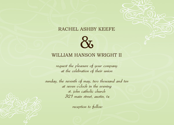 Wedding Invitation Envelope Templates