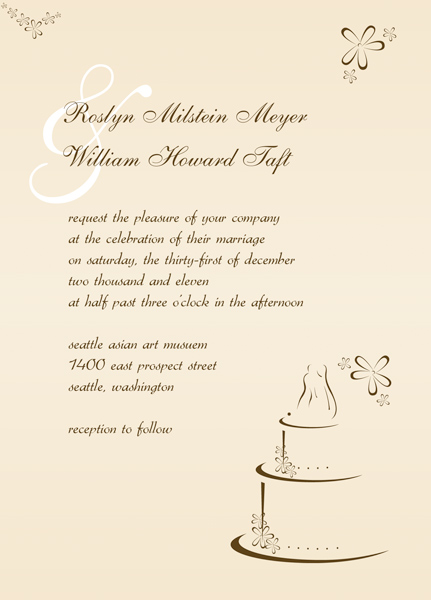 Scroll Wedding Invitation Cards Make Modern Invites – Funeral Reception Invitation
