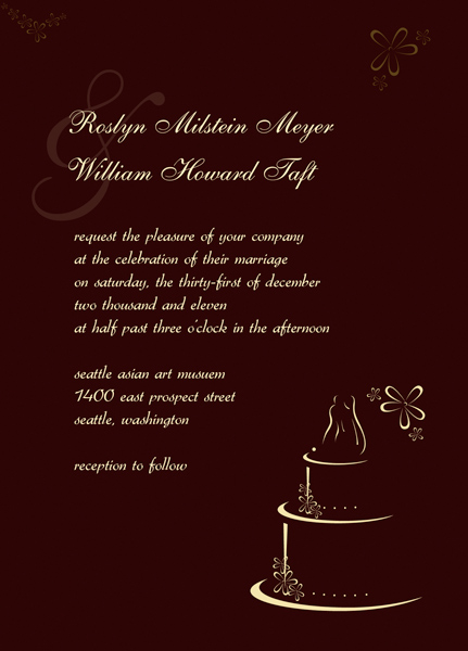 Monogram Wedding Invitation Templates