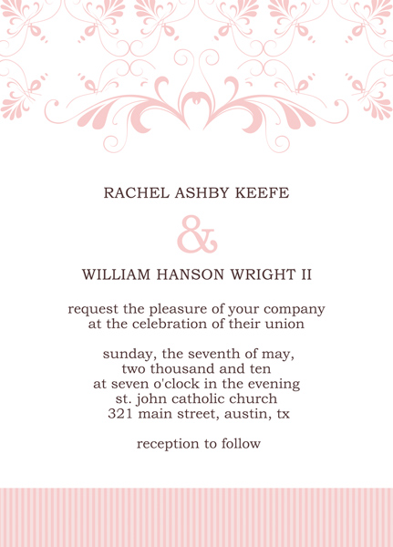 Microsoft Publisher Wedding Invitation Templates