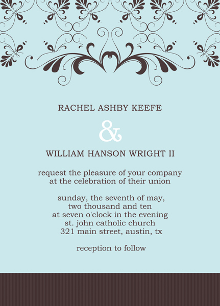 wedding reception invitation templates, Invitation templates