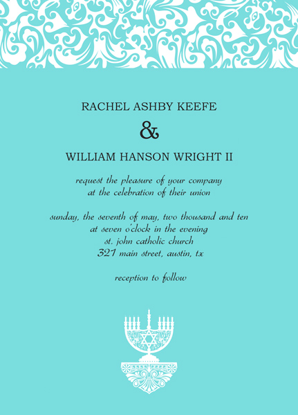 Example Of Wedding Invitation