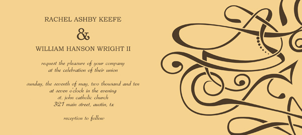 wedding reception invitation templates – come up with your special, Invitation templates