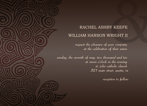 Post wedding reception invitation templates stopboris Choice Image