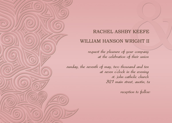 Wedding invitation card templates for Www wiltonprint com templates