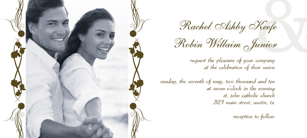 post wedding reception invitation templates