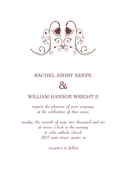 American Wedding Invitations  Free Wedding Invitation Samples By Mail