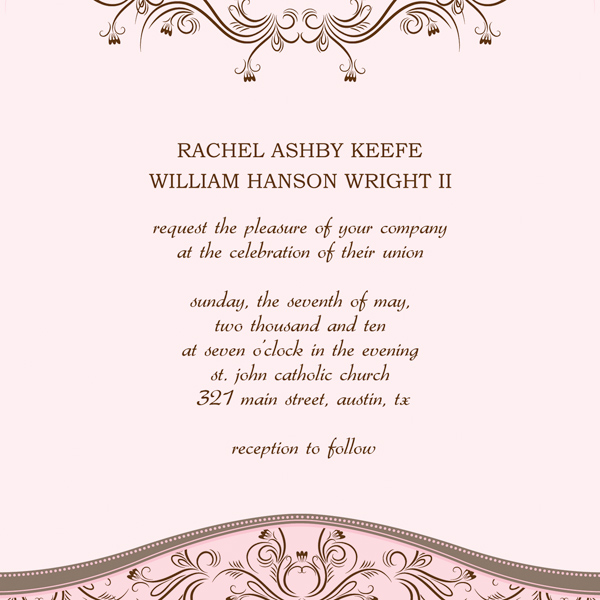 Microsoft Wedding Invitation Templates