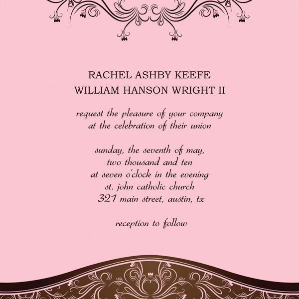 Wedding Invitation Templates - Wedding invitation templates: western wedding invitation templates