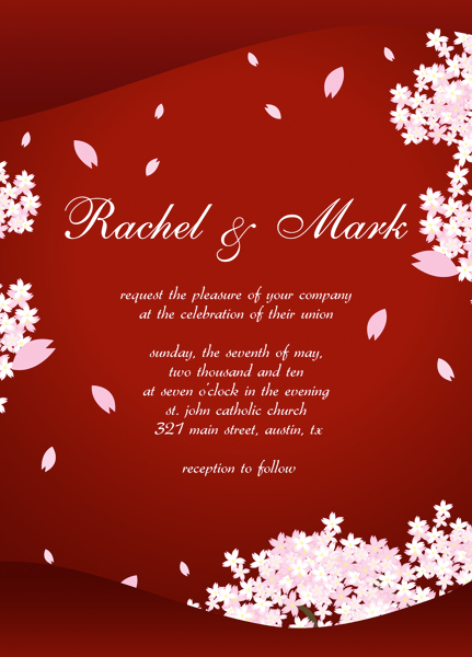 Wedding Invitation Response Card Templates